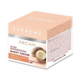Supreme Argan Ultra Regenerating Night Cream Argan Oil Olive Oil Shea Butter 50 Ml