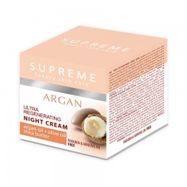 Supreme Argan Ultra Regenerating Night Cream Argan Oil Olive Oil Shea Butter 50 Ml
