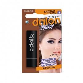 Dalon Color Hair Stick 4 Καστανό Κόκκινο 4.5gr