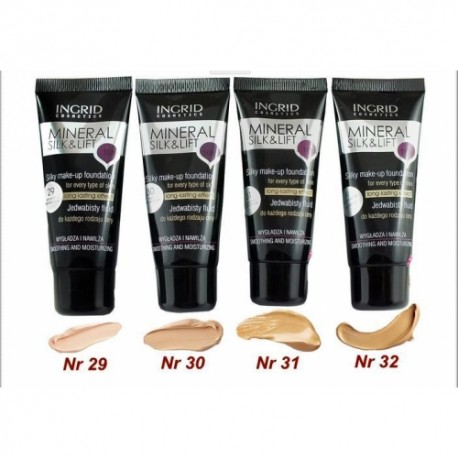 Ingrid Cosmetics Mineral Silk& Lift Silky Make-Up Foundaction For Every Type Of Skin Long-Lasting Effect