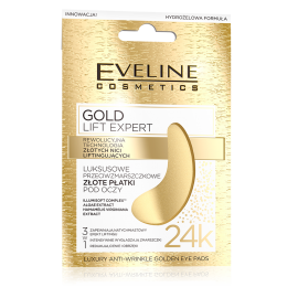 Eveline Cosmetics Gold Lift Expert μάσκα ματιών κατά του πρηξίματος και μαύρους κύκλους