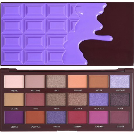 Makeup Revolution I Heart Revolution Violet Chocolate Palette