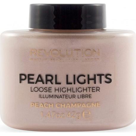 Makeup Revolution Revolution Pearl Lights Loose Highlighter Peach Champagne 42gr