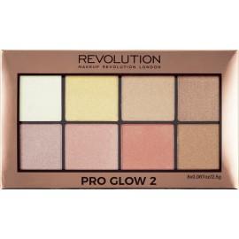 Makeup Revolution Pro Glow 2 Highlighter Palette 20gr