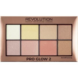 Makeup Revolution Pro Glow 2 Highlighter Palette 20gr