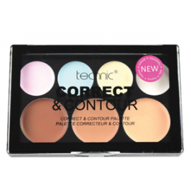 Technic Colour Fix Corrector Concealer Correct and Contour Cream Palette Brush