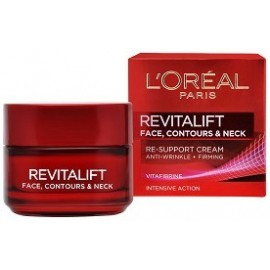 L`Oreal Revitalift Face, Contours and Neck Re-Support Cream