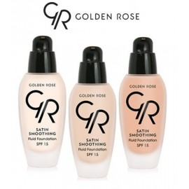 Golden Rose Satin Smoothing Fluid Foundation  SPF15 34ml