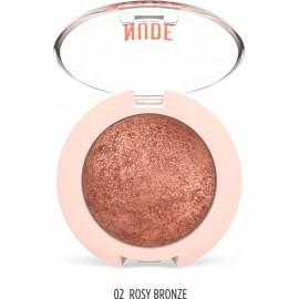 Golden Rose Nude Look Pearl Baked Eyeshadow 02 Rosy Bronze