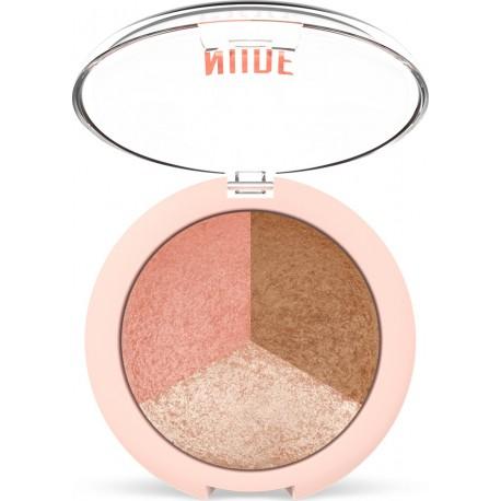 Golden Rose Nude Look Baked Trio Face Powder 19.5gr