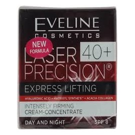EVELINE LASER PRECISION EXPRESS LIFTING 40+ DAY & NIGHT CREAM-CONCENTRATE SPF8