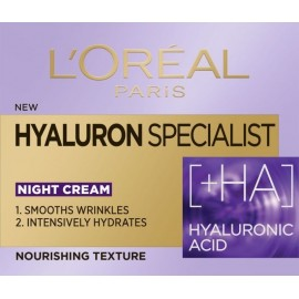 L'Oreal Hyaluron Specialist +HA Replumping Moisturizing Care Night Cream 50ml