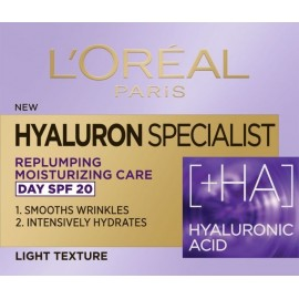 L'Oreal Hyaluron Specialist +HA Replumping & Moisturizing Care Day SPF20 Light Texture 50ml