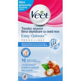 Veet Easy Strip Για Ευαίσθητο Δέρμα 16τμχ.