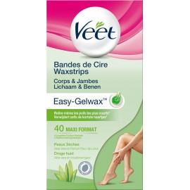 Veet Veet Easy-Gelwax Depilation Strips Legs & Body - Dry Skin - 40 pieces