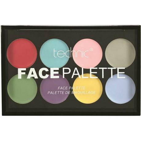 Technic Face Palette Pastel Colours