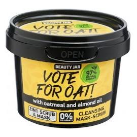 "Beauty Jar ""VOTE FOR OAT!"" Μάσκα/Scrub προσώπου, 100gr"