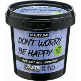 "Beauty Jar ""DON'T WORRY, BE HAPPY"" Χαλαρωτικά άλατα μπάνιου, 200gr"