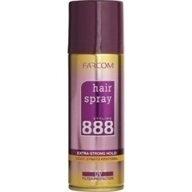 Farcom 888 Very Strong Hold Hair Spray 200ml