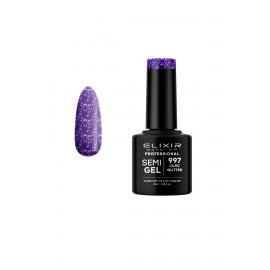 Elixir Make Up Ημιμόνιμο βερνίκι 8ml – 997 (Lilac Glitter)
