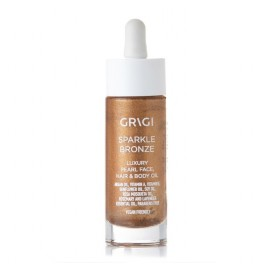 Grigi spakle bronze luxury pearl face hair & body oil  30ml